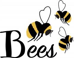 Bumble Bees Print Art