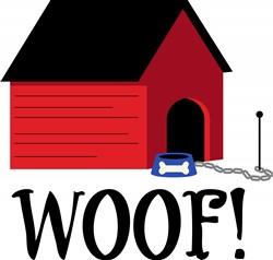 Dog House Woof Print Art