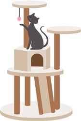 Cat House Print Art
