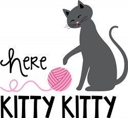 Here Kitty Print Art
