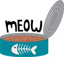 Cat Food Meow Print Art