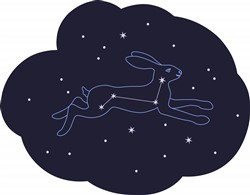 Rabbit Constellation Print Art