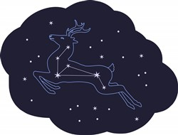 Star Deer Print Art