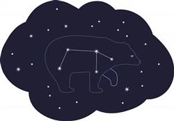 Star Bear Print Art
