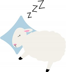 Sleepy Sheep Print Art