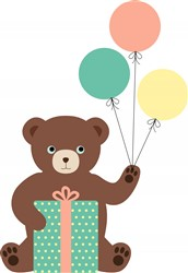 Birthday Bear Print Art