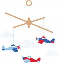 Airplane Mobile Print Art