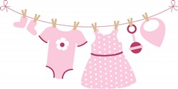 Baby Girl Laundry Print Art