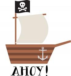 Pirate Ship Ahoy Print Art