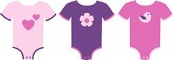 Baby Girl Clothes Print Art
