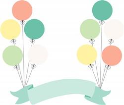 Balloon Banner Print Art