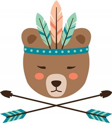 Native Bear Print Art