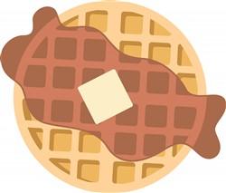 Breakfast Waffle Print Art