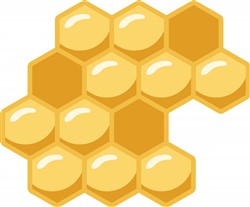 Honeycomb Print Art
