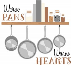 Warm Pans Print Art
