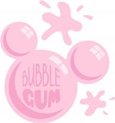 Bubble Gum Print Art