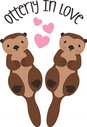 Otterly In Love Print Art