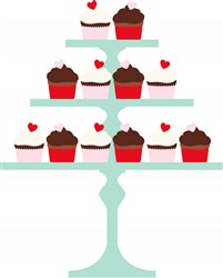 Cupcake Pedestal Print Art