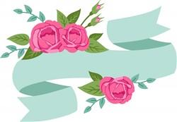 Rose Banner Print Art