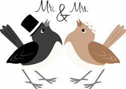 Mr & Mrs Bird Print Art