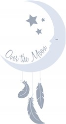 Over The Moon Print Art
