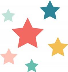 Colorful Stars Print Art
