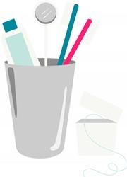 Dental Brushes Print Art