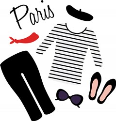 Paris Clothes Print Art