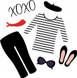 XOXO Clothes Print Art