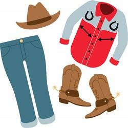 Cowboy Clothes Print Art