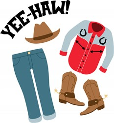 Yee-Haw Clothes Print Art