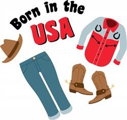 USA Born Print Art