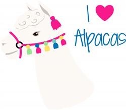 I Love Alpacas Print Art