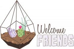 Welcome Friends Print Art