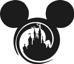 Mickey Mouse Castle Print Art