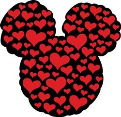 Valentines Day Mickey Print Art