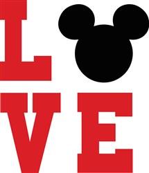 Mickey Mouse Love Print Art