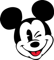 Mickey Mouse Wink Print Art