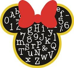 Minnie Mouse ABCs Print Art
