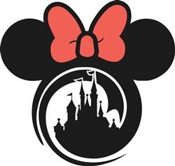 Minnie Mouse Castle Print Art