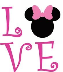 Minnie Mouse Love Print Art