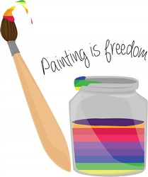 Painting Is Freedom Print Art