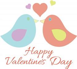 Valentines Day Birds Print Art