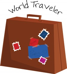 World Traveler Print Art