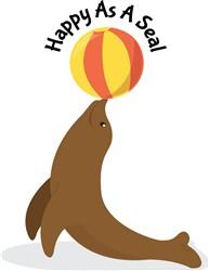 Happy As Seal Print Art