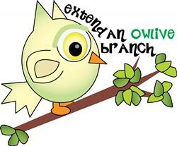 Owlive Branch Print Art