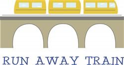Run Away Train Print Art