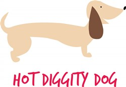Hot Diggity Dog Print Art