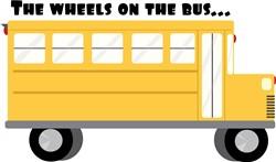 Wheels On Bus Print Art