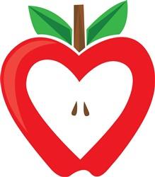 Red Apple Print Art